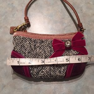 Coach Bags - Coach tweed and suede wristlet